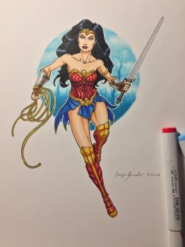 Wonder Woman commission by amonkeyonacid