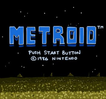 Metroid Title Screen by soks2626