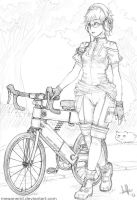 Bicycle Girl by MeganeRid