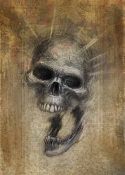 Drawlloween skull color by ChrisChuckry