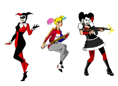 3 Levels Harley Quinn by March90