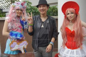Me and coloruful people Japan Expo 2014