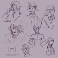 Inquisitor Doodles by Roxoah