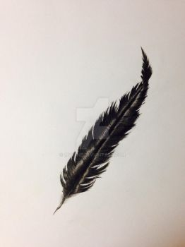 Feather Tattoo by MVisine