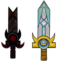 Blade of Tartarus and Olympus by DraconianQueen