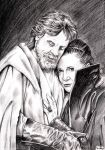 Luke and Leia by emalterre