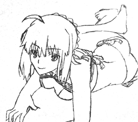 Picture 18 - Artoria Pendragon - Trace by drawing-archive