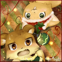 Kendra n Mikan for x-mas by Vicky-Mionelei