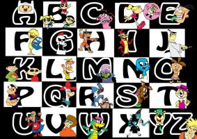 Cartoon Network Alphabet by raggyrabbit94