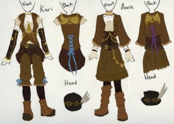 Steampunk Outfits Design by Azralorne