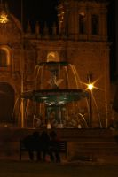 Cusco Fountain at Night by StewartSteve