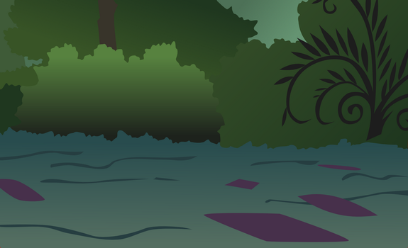 Everfree forest background vector by FabulousMoustache
