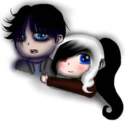 Rodger and Pepper Chibis by PrinceNeoShnieder