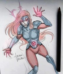 Jean Grey sketch by LucianoVecchio