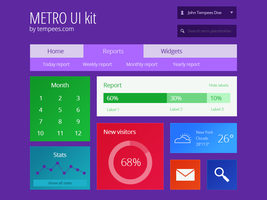 Metro UI kit by tempeescom