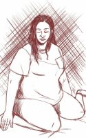 Daily Sketch: Active in Being Lonely by Hunchy