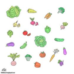 Vegetables and fruits - colorful by AkiOrinoco