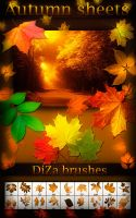 Autumn sheets brushes by DiZa-74