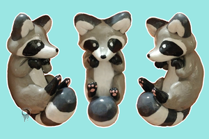 Raccoon Charm by lunar-neo