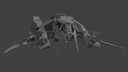 Star Citizen: DRAKE Sparrow Mk.II (front view) by WarMocK