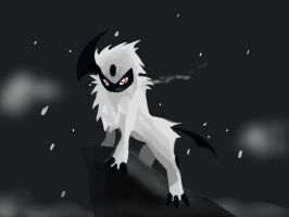 Absol's Mountain - Inktober Challenge by SomeOrdinaryArtists