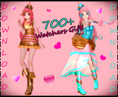 [MMD FNAF - DL] 700+ Watchers Gift - Cupcakes by DatenshiAkura