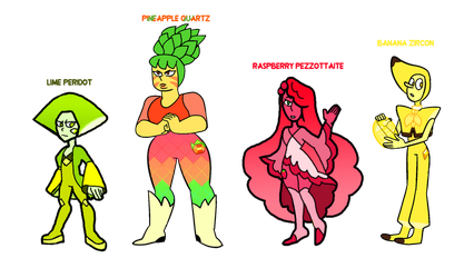 Collab Adopts - Fruit Gems (4/4 Open) by popinat
