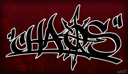 Chaos tag with background by Empyronaut