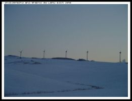 Wind blades in the Snow by lamu1976