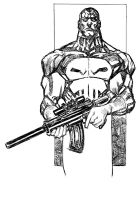 punisher sketch by johnsonverse