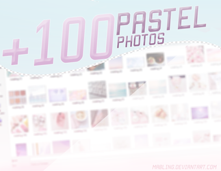 (PACK) + 100 Pastel Photos - by Mabling by mabling