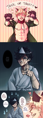 (BNHA comic) two types of halloween people by sonreiv