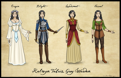 Kalwyn Tabris Outfits by Captain-Savvy