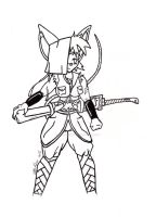 The Warrior - Lineart by Catboy-Trades