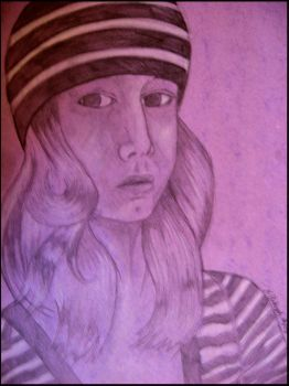Self on Purple paper. by VaughanFawn