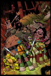 TMNT Amazing Adventures 4 COVER COLOUR by Red-J
