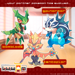 Luwan Starters 1st Stage Evolutions! by LuisBrain