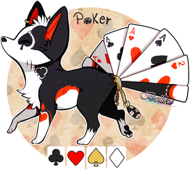Poker Foxfan Auction // CLOSED by Belliko-art