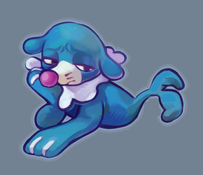 Sad Popplio by Mysteriousmanm788