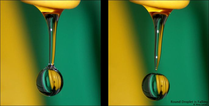 Round Droplet is Falling by ninazdesign