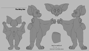 F2U Bitty Bat Base by HauntedElle