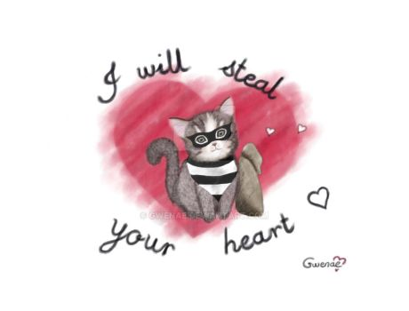 I Will Steal Your Heart - Cute Kitty by Gwenae