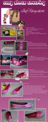 Covering shoes for cosplay - Ling Xiaoyu shoes by Giuly-Chan