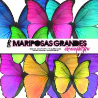 Mariposas grandes para blends by itstew