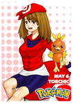 May and Torchic by Prafa-AR