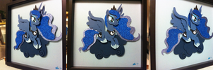 Commission: Luna Shadowbox by The-Paper-Pony
