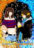 Echotale and Flowerfell= Frisk by darkflames09
