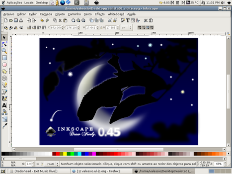 Night in Inkscape 0.45 by valessiobrito