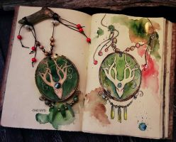 Forest Spirit Amulet by Kinko-White