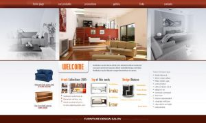 Furniture salon web layout by wiz24